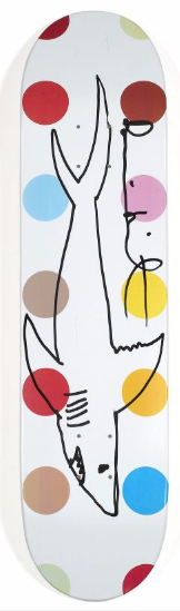 Damien Hirst-Skateboard with Shark-2011