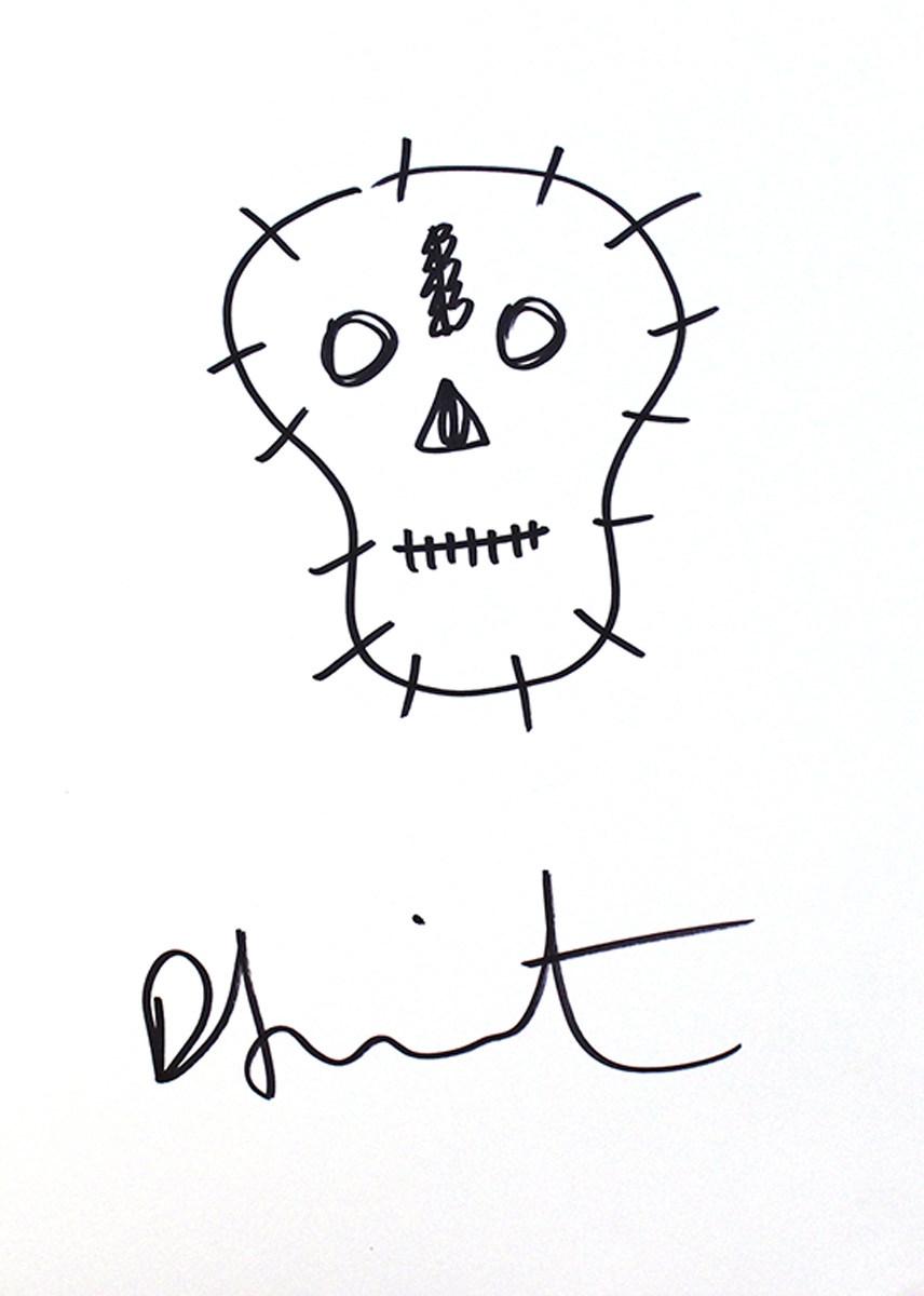Damien Hirst-Skull Sketch-