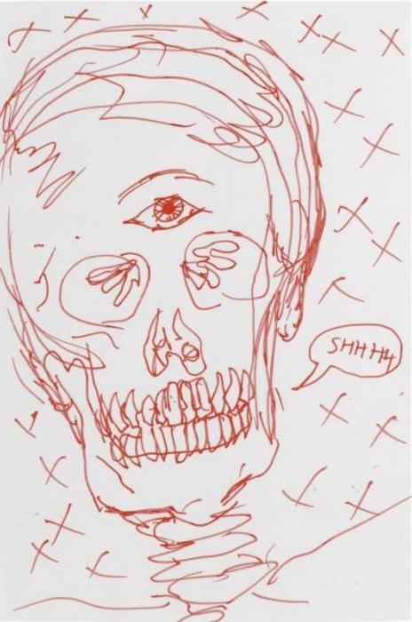 Damien Hirst-Skull Drawing-2005