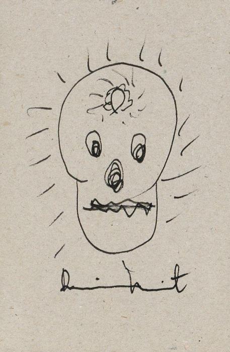 Damien Hirst-Skull Drawing-