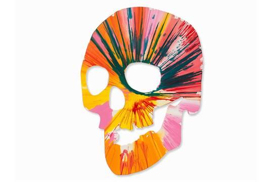 Damien Hirst-Skull Spin Painting-2009