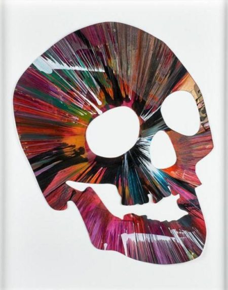 Damien Hirst-Skull Spin Painting (Created at Damien Hirst Spin Workshop)-2009