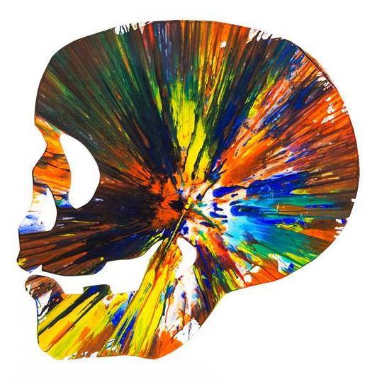 Damien Hirst-Skull Spin Painting-