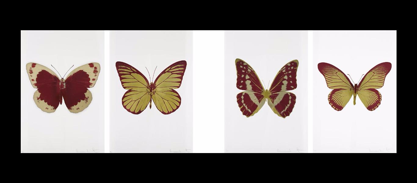 Damien Hirst-Soul (I), Soul (II), Soul (III), Soul (IV)-2010