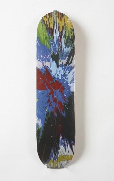 Damien Hirst-Spin (Blue) Skateboard Deck-