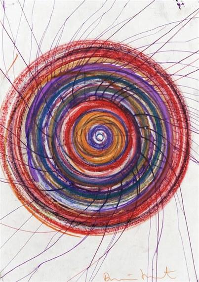 Damien Hirst-Spin Drawing-