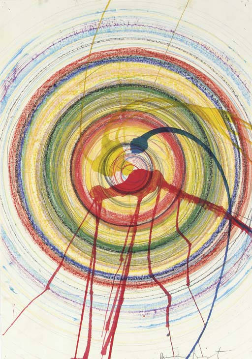 Damien Hirst-Spin Drawing-