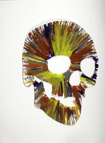 Damien Hirst-Spin Painting (Skull)-2009