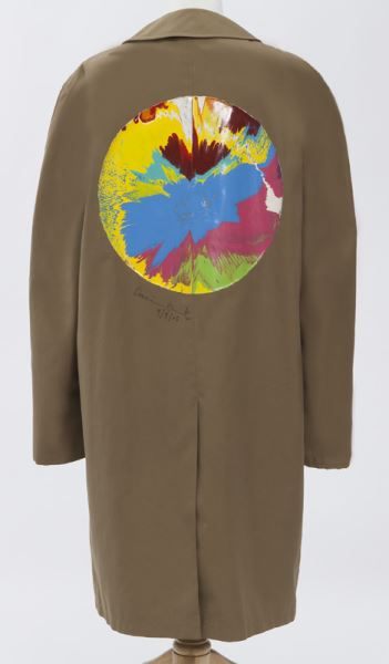 Damien Hirst-Spin Painting on Libertine Jacket, Beige Trench Coat-2005