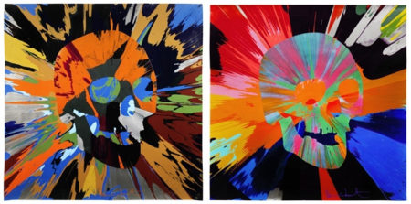 Damien Hirst-Spin Painting with Skulls-2013