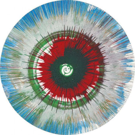 Damien Hirst-Spin (Red, Green and Blue)-