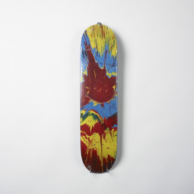 Damien Hirst-Spin (Red) Skateboard Deck-