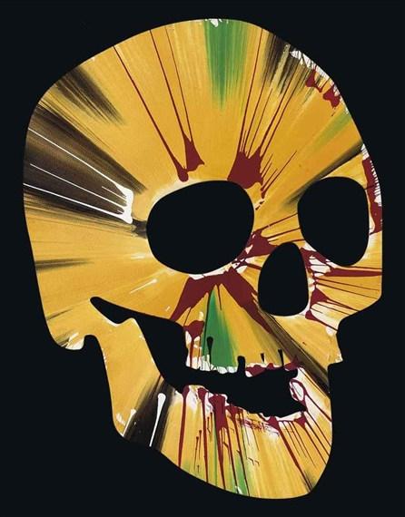 Damien Hirst-Spin Skull-2009