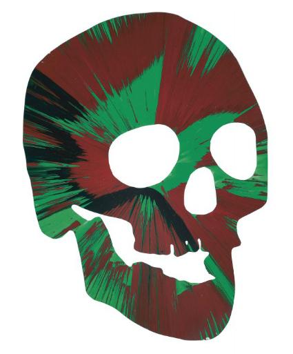 Damien Hirst-Spin Skull-2011
