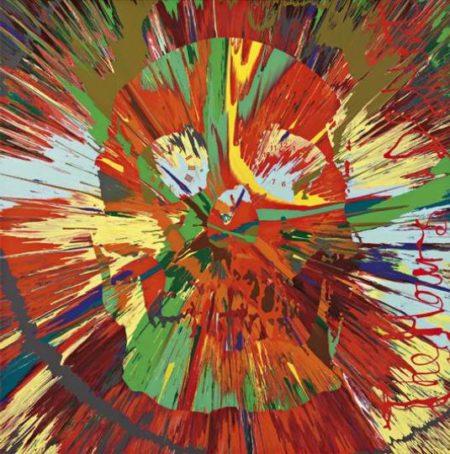 Damien Hirst-Spin Skull with Clocks in Eyes-2008
