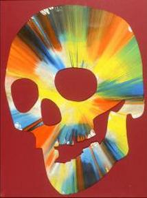 Damien Hirst-Spin Skull-