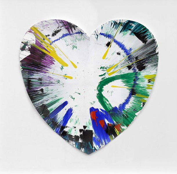 Damien Hirst-Spin Painting (Heart)-2009
