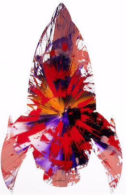 Damien Hirst-Spin Painting for Gabbie-2011