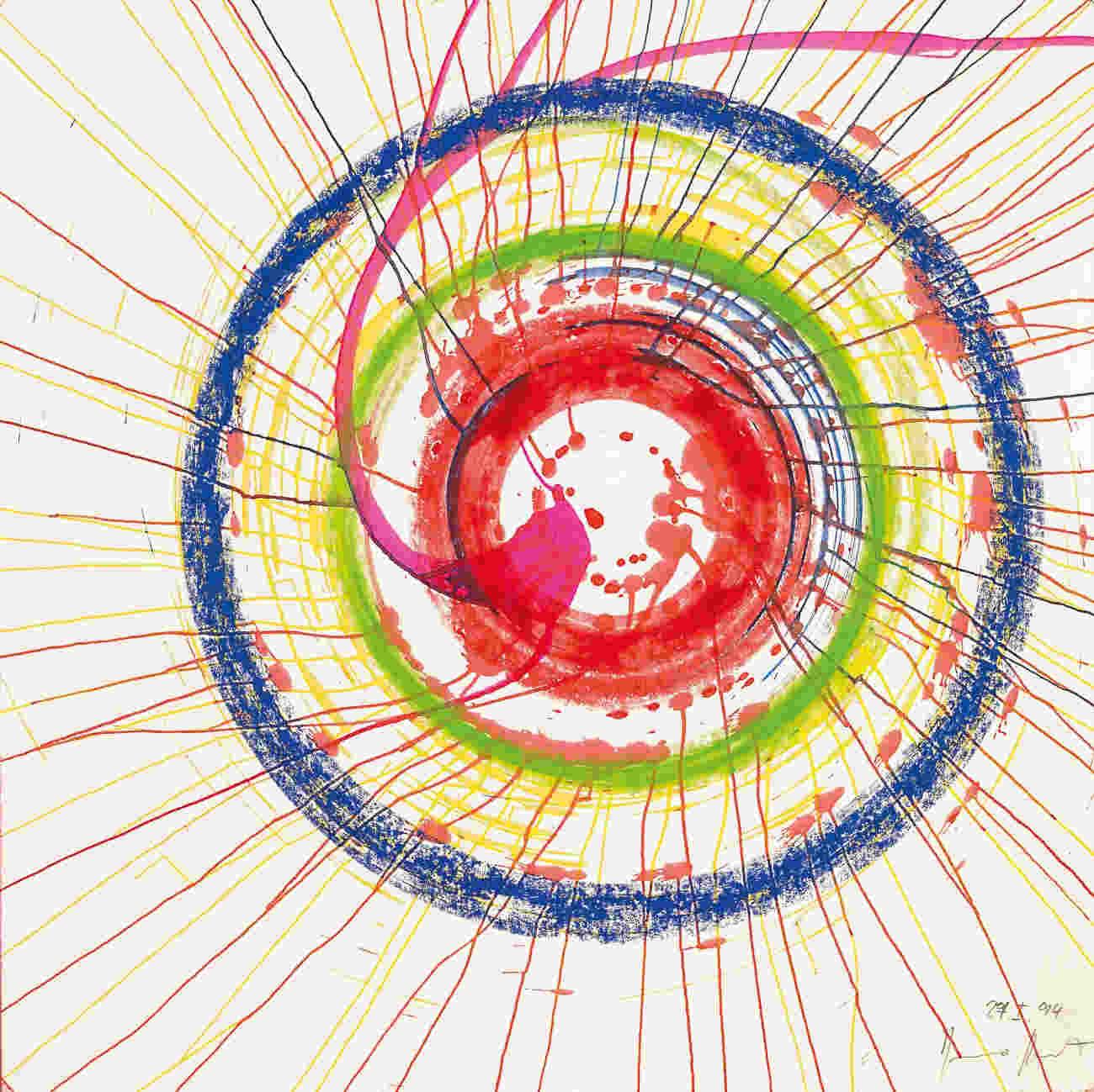 Damien Hirst-Spiral Drawing-1994