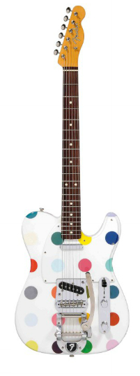 Damien Hirst-Spot Fender Telecaster-2010