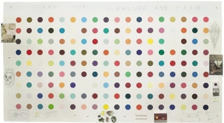 Damien Hirst-Stamp Out of Pleasure and Pain-2004