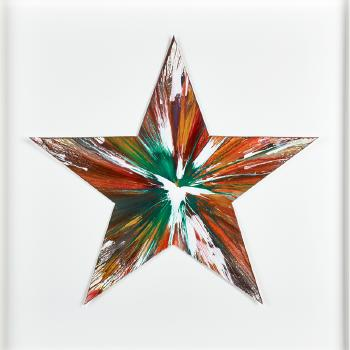 Damien Hirst-Star Spin Painting (Created at Damien Hirst Spin Workshop)-2009