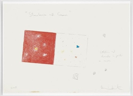 Damien Hirst-Strawberries and Cream Drawing-2008