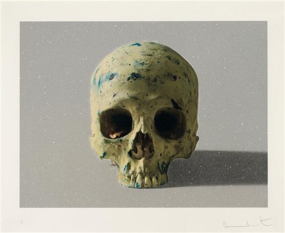 Damien Hirst-Studio Half Skull, Face On-2009