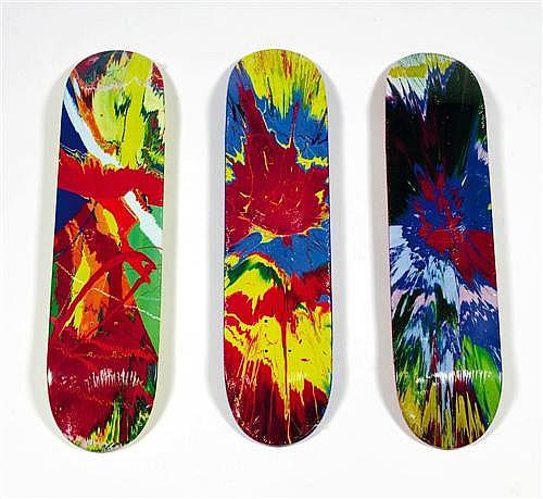 Damien Hirst-Supreme Skate Decks (Spin)-2009