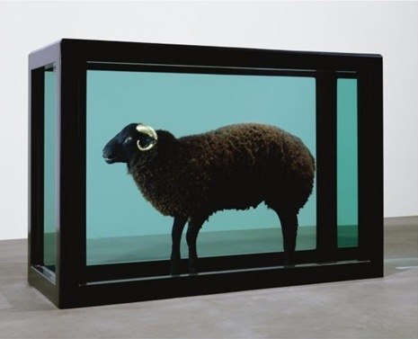 Damien Hirst-The Black Sheep with the Golden Horn-2008