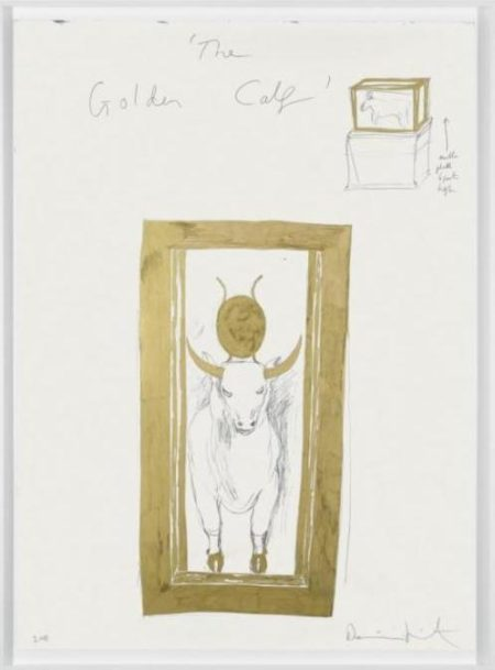 Damien Hirst-The Golden Calf Drawing-2008