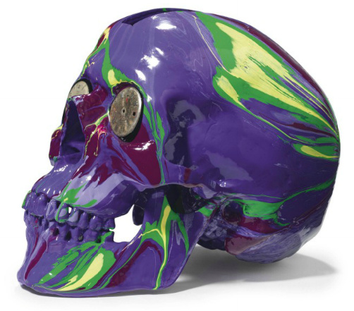 Damien Hirst-The Hours Spin Skull-