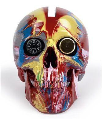 Damien Hirst-The Hours Spin Skull (+ CF von The Hours)-2009