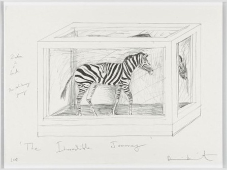 Damien Hirst-The Incredible Journey Drawing-2008