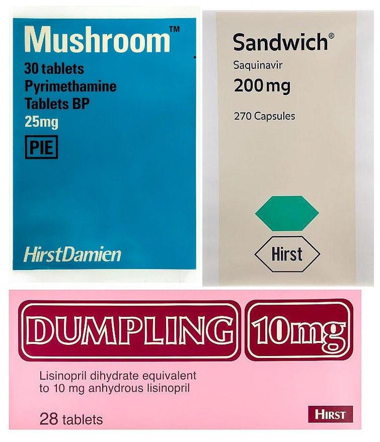Damien Hirst-The Last Supper: Dumpling, Sandwich, Mushroom-1999