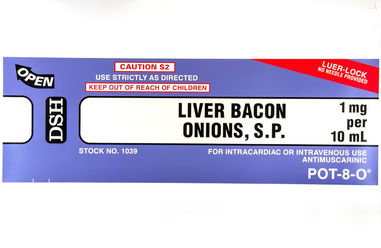 Damien Hirst-The Last Supper Series: Liver, Bacon & Onions-1999