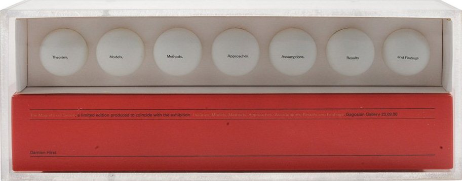 Damien Hirst-The Magnificent Seven (Theories, Models, Methods, Approaches, Assumptions, Results and Findings)-2000