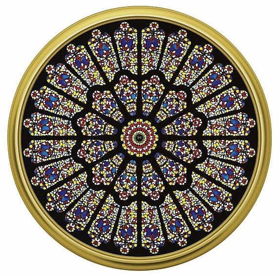 Damien Hirst-The Rose Window, Durham Cathedral-2008