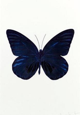 Damien Hirst-The Souls I: Westminster Blue, Raven Black,Imperial Purple-2010