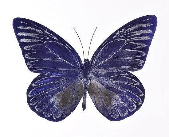 Damien Hirst-The Souls I: Westminster Blue, Silver Gloss-2010