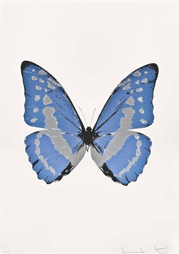 Damien Hirst-The Souls III: Frost Blue, Silver Gloss, Chocolate-2010