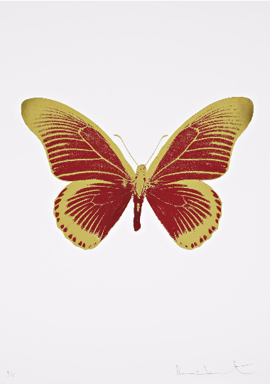 Damien Hirst-The Souls IV: Chilli Red, Oriental Gold-2010