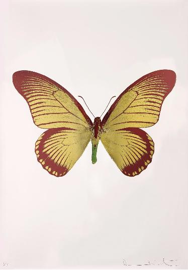 Damien Hirst-The Souls IV: Oriental Gold, Burgundy, Leaf Green-2010