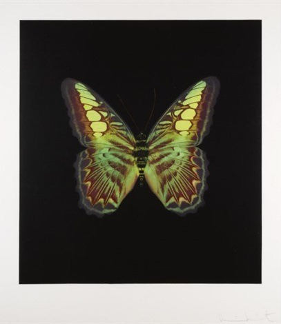 Damien Hirst-The Souls on Jacob's Ladder Take Their Flight: Plate 2 (Large Red/Green)-2007