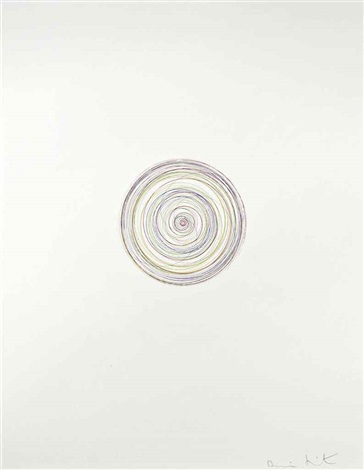 Damien Hirst-Tie a Yellow Ribbon Round the Old Oak Tree, from In a Spin, The Action of the World on Things Vol. I-2002