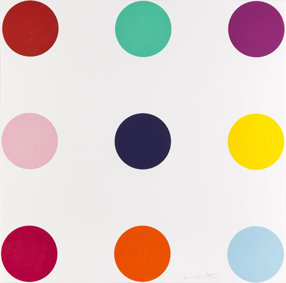 Damien Hirst-Tryptophan, from Woodcut Spots-2010