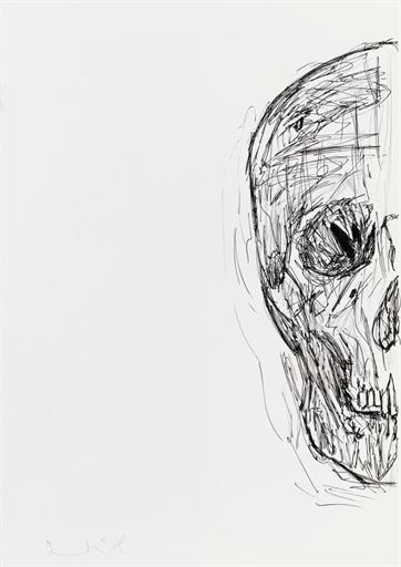 Damien Hirst-Untitled (Half Skull)-2007