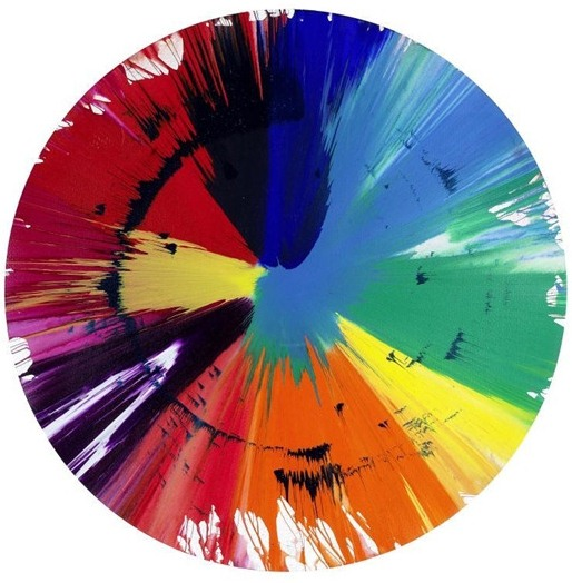 Damien Hirst-Untitled Paper Spin Painting-2009