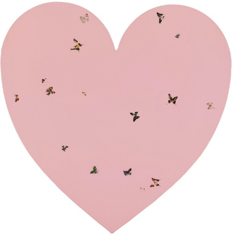 Damien Hirst-Untitled (Pink Heart with Butterflies)-2000