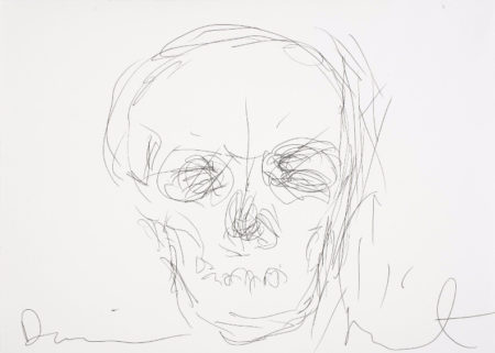 Damien Hirst-Untitled (Skull Drawing)-2004